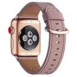 WFEAGL Kompatibel für Watch Armband 38mm 40mm 42mm 44mm, Lederband Ersatzband mit...