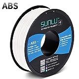 SUNLU ABS Filament 1.75mm for FDM 3D Printer, 1KG(2.2LBS) ABS 3D Filament Accuracy +/- 0.02 mm, White