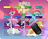 Calendar for 2020 Year Mouse Pad Office Mouse Pad Gaming Mouse Pad Mat Mouse Pad-My Little Pony Mane six on Clouds