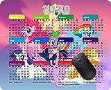 Mauspad für 2020 Kalender/Gaming/Mauspad, rutschfeste Gummi-Unterseite, My Little Pony Mähne six...