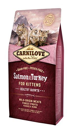 Carnilove Carnilove Salmon & Turkey Kitten Growth Comida Deshidratada Para Gato 6 Kg - Paquete de 3 x 2000 gr - Total: 6000 gr