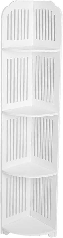 LIUTT Corner Shelf New sales Bombing new work -4-Tier Ba White Wooden Standing