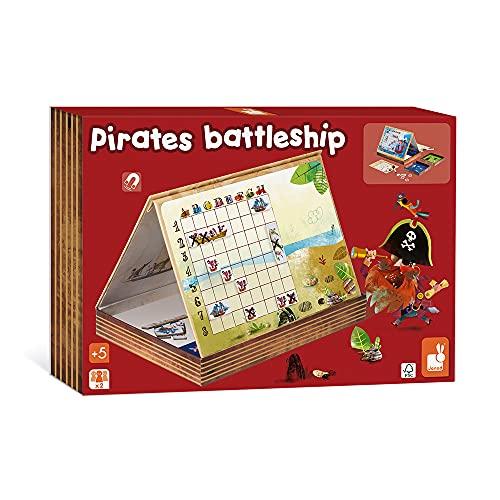 Janod - Bataille Navale Pirates - Jeu de Société Touché Coulé - dès 5 Ans, J02835