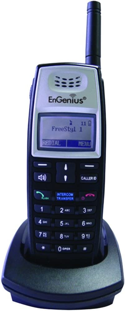 EnGenius FREESTYL 1-HC FreeStyl 1 Expansion Handset with Battery Pack, Desktop Charging Cradle and AC Adaptor For use with FreeStyl 1 Extreme Range Cordless Phone System Only