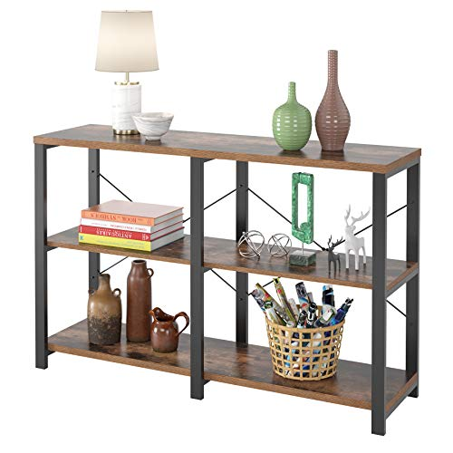 Homfa Rustic Console Sofa Table, 47'' Industrial...