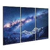Bild Bilder auf Leinwand Raum. Milchstraße und Berge.
