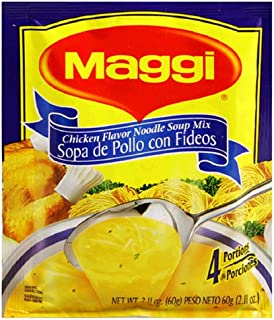 Maggi Chicken Flavor Noodle Soup Mix, Pollo Con Fideos 2.11 Ounce Packets ( Pack of 12 )