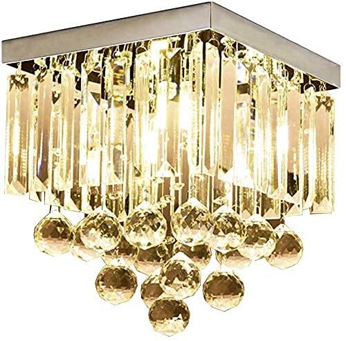 BABYCOW Lámpara de Techo Simple Moderna Lámpara de Cristal Cuadrada Iluminación Creativa Lámpara de Pasillo Luces de Pasillo, 1 luz
