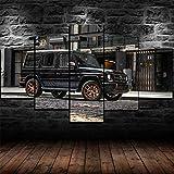 VYQDTNR Cuadro en Lienzo 5 Piezas Material Tejido no Tejido Impresión Artística Imagen Gráfica Decoracion de Pared Mercedes G65 Car Wagon 150x80cm