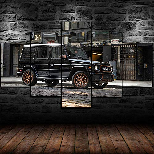 CVBGF Canvas printing 5 Pieces photo Canvas painting wall Art, Me-edes-AMG G65 AMG Car Wagon poster Bedroom living room home decoration art wallpaper canvas ,wooden frame-80 * 150CM