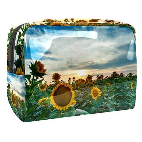 Maquillage Cosmetic Case Multifunction Travel Toiletry Storage Bag Organizer for Women - Sunflower Field Garden