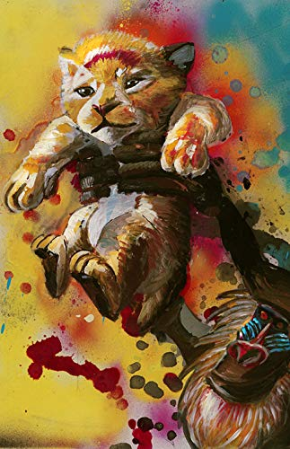 Change 4 Love Original Disney Lion King Rafiki Holding Baby Simba - Amazing Wall Pop Art Size 11x17 - Detailed Print Painting Poster