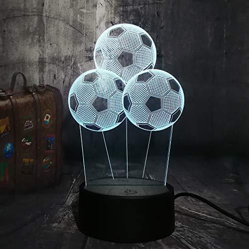 shiyueNB 3D LED nachtlampje ballon voetbal voetbal lamppada led 7 kleurverloop touch creatieve slaapkamer slaapkamer wooncultuur verjaardagscadeau