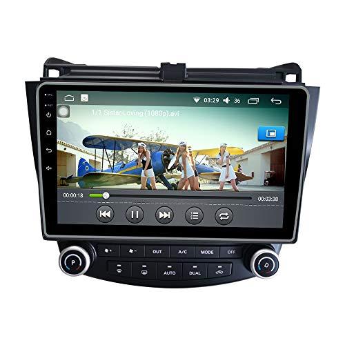 Android 10 Autorradio Navegación del Coche Unidad Principal Estéreo Reproductor Multimedia GPS Radio IPS 2.5D Pantalla táctil porHonda Accord 2004-2007