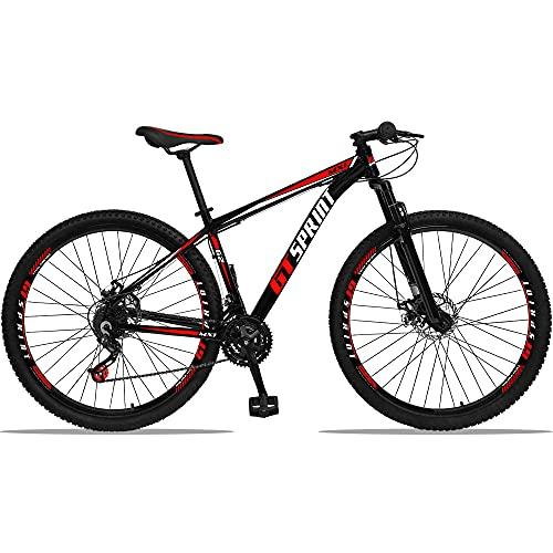 Bicicleta Aro 29 Gt Sprint Mx1 Alumínio 21v Freio A Disco Vermelho 19''