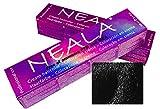 Tinte profesional sin amoniaco, PPD ni MEA. NEALA coloración permanente profesional - 1 x 100ml. (01- NEGRO)