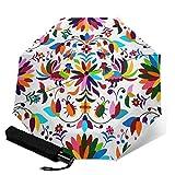 Paraguas plegable de viaje, modelo de México TRIF-Old paraguas a prueba de viento automático para mujeres con protección UV abierto y cierre automático