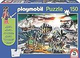 Schmidt Spiele 56020 Pirateninsel, 150 Teile Kinderpuzzle, mit Playmobil-Figur, bunt