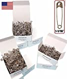 NiftyPlaza 500 Pcs Safety Pins 1-1/16' Premium Quality, Rust-Resistant Nickel Plated, Durable for Home, Office, Clothes, Crafts (500 Safety Pins)