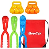 iBaseToy Snowball Maker Toys, 5 Pack Kids Small Snowman Maker Kit, Winter Outdoor Snowball Fight Games and Snowball Fun for Kids and Toddlers, Perfect Winter Gift for Children