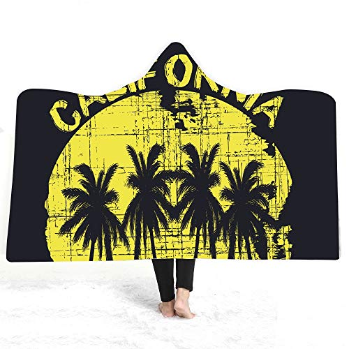 ZHANGCHANG - Manto de talumaturgía agradable al tacto con capucha con un sombrero de felpa doble manto de California Wind (color: 20, tamaño: 130 x 150 cm)