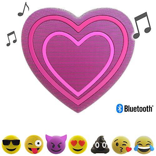 Jam Jamoji Corazón, - Altavoz Bluetooth niños iluminación
