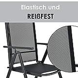 ArtLife Aluminium Gartengarnitur Milano | Gartenmöbel Set mit Tisch und 8 Stühlen - 4