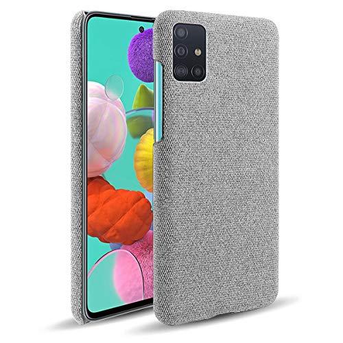 Oihxse Business Housse Case Compatible pour Samsung Galaxy J6 Prime/J6 Plus Coque en Tissu Toile Full Protection Étui Ultra Mince Léger Anti-Slip Antichoc Antifouling Hybride Cover,Gris