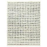 vidaXL Alfombra Estera Tapiz Felpudo Esterilla de Suelo Decoración Textil de Hogar Casa de Lana y Tela Vaquera Jeans Azul y Blanco 120x170 cm