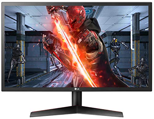 LG UltraGear 60.96 cm(24 inch ) 144Hz, Native 1ms Full HD Gaming Monitor with Radeon Freesync - TN Panel with Display Port, HDMI, Headphone Out - 24GL600F (Black)