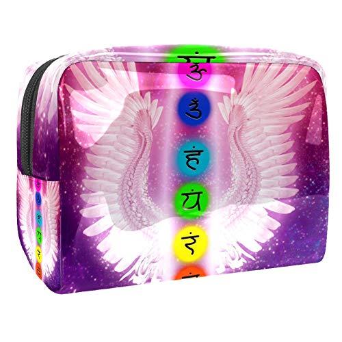 TIZORAX - Sac de maquillage en PVC pour les chakras et les ailes d'ange