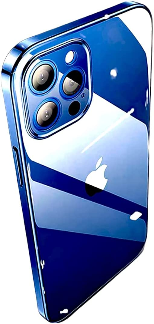 N.N Compatible for iPhone 13 Pro Crystal Clear case Transparent TPU Anti Yellow 6.1''inch Cover Slim Thin Shockproof 2021 Bumper Color (Blue)