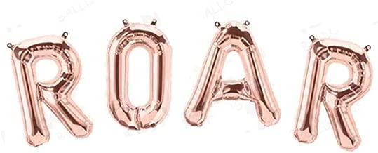 Tellpet Dinosaur Party Decorations Roar Letter Balloons, Rose Gold