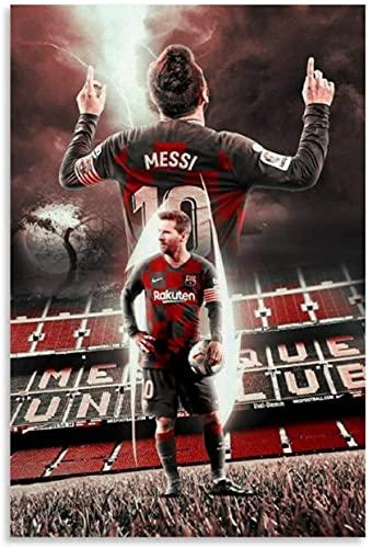 Mural con Estampado De Arte Barcelona. Regalo de Lionel Messi para Novio PóSter Lienzo Pintura Pared 15.7'x23.6'(40x60cm) Sin Marco