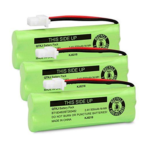 QTKJ BT183482 BT283482 Battery for Vtech DS6401 DS6421 DS6422 DS6472 LS6405 LS6425 LS6425-3 LS6426 LS6475 LS6475-3 LS6476 89-1348-01 Cordless Phone Handset (3-Pack)