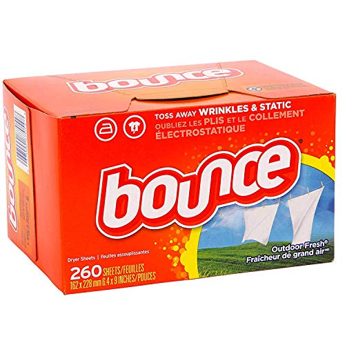 Bounce Fabric Softener Dryer Sheets | Outdoor Fresh Scent – 260 Sheets – Keeps Clothing Soft Fresh and Smelling Great