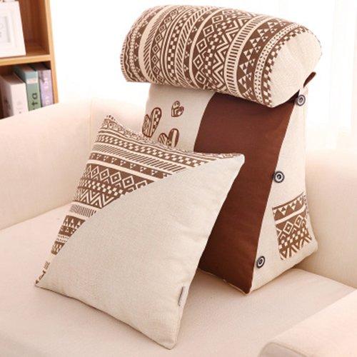 Dossier De Chevet Triangle avec un appui-tête coussin coussin lombaire dossier canapé-lit Lit soft pack arrière oreiller de bureau de coussins de fenêtre baie (Couleur : A, taille : M)