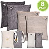 Charcoal Air Purifying Bag Activated Bamboo Charcoal Bags For Car Closet Shoe Home Basement 8 PACKS