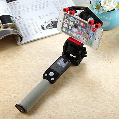 ETbotu Bastone per Selfie, 360 Gradi Smart Rotation Selfie Stick Estensibile Wireless 4.0 Telecomando Supporto iOS 4.0 Android 2.3+ Nero