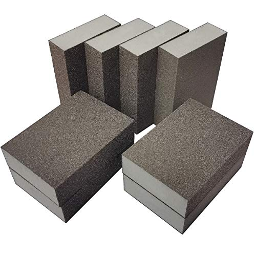 SACKORANGE 8 Pack Sanding Sponge, Coarse/Medium/Fine/Superfine 4 Different Specifications Sanding Blocks Assortment,Washable and Reusable