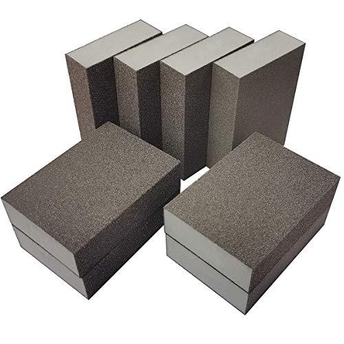 8 Pack Sanding Sponge,Sackorange Coarse/Medium 4 Different Specifications Sanding Blocks Assortment,Washable and Reusable
