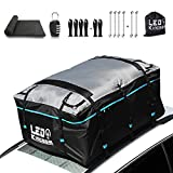 LEDKINGDOMUS Rooftop Cargo Bag, Waterproof 19cft Truck Pickup Cargo Carrier, 600D with PVC...