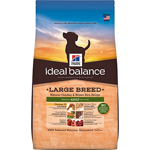 Hill's Ideal Balance Adult Natural Dry Dog Food Large Breed Chicken & Brown Rice Recipe
