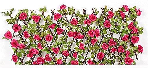 Seto Artificial Huertos urbanos Vallas decorativas Jardín Pantalla de privacidad expandible para jardines Balcón y terrazas Seto artificial Pantalla de privacidad de jardín al aire libre Valla de m
