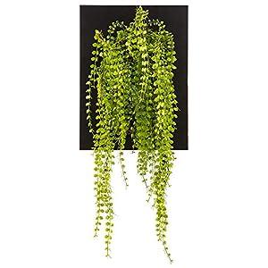 """Silk Flower Arrangements SilksAreForever 30"""" Artificial Button Fern Plant w/Wall Hanger -Green"""