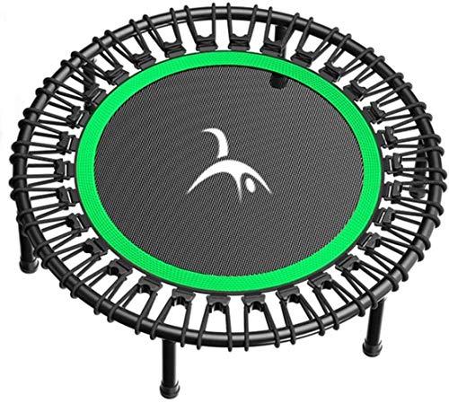 YONGYONGCHONG Saut à l'élastique Pliable Fitness Trampoline, Adultes Coffre-Fort Portable Exercice Enfants Indoor Workout Garden Équipement Sportif (Color : Green, Size : 107cm)