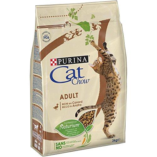 CAT CHOW – Adulto con NaturiumTM – Ricco di anatra – 3...