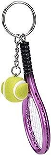 Fashion Metal Creative 3D Tennis Rackets Ball Key Ring Gift Keychains Fashion Mobile Phone Accessories