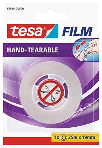Tesa film von Hand einreißbar, 25m x 19mm, 1 Rolle im Blister