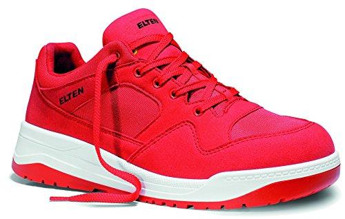 ELTEN Maverick red Low ESD S3 Herren Sicherheitsschuhe, Arbeitsschuhe, Sicherheitshalbschuh, Zertifiziert nach EN ISO 20345 : S3, Stahlkappe (Rot), EU 42